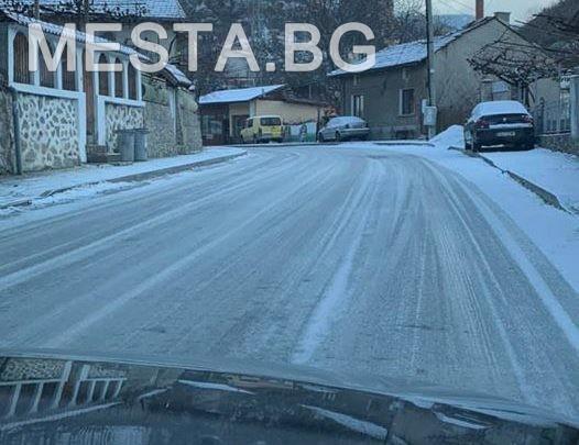 Рила,улици,сняг,